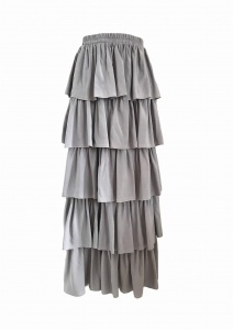 Spódnica JOLIE RUFFLE LIGHT GREY