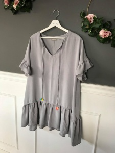 Sukienka BELLA LIGHT GREY OVERSIZE