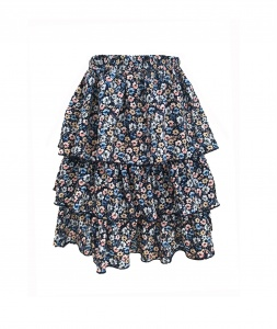Skirt JOLIE SHORT NAVY FLOWERS