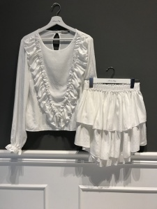 Blouse and Skirt ANGEL WHITE