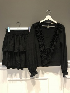Blouse and Skirt ANGEL BLACK