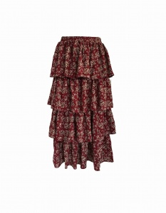 Skirt JOLIE RUFFLE FOUR CHERRY