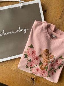 T-Shirt ANGEL ROSE PINK