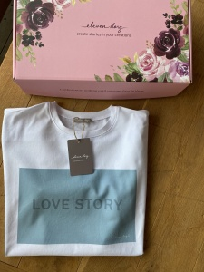 T-Shirt LOVE STORY SMOKEY BLUE