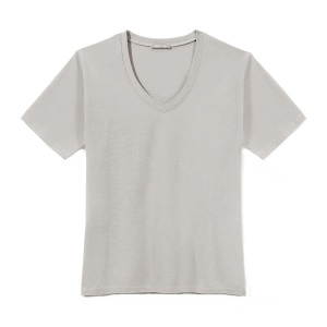 T-Shirt PURE V-NECK Grey