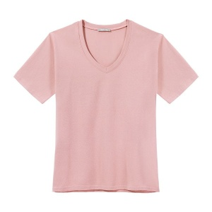T-Shirt PURE V-NECK PINK