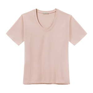 T-Shirt PURE V-NECK POWDER
