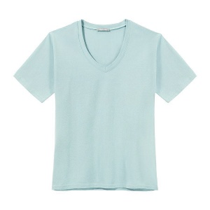 T-Shirt PURE V-NECK SMOKEY BLUE