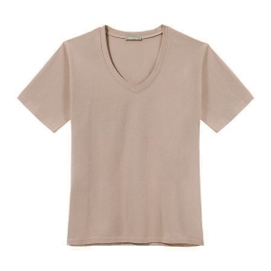 T-Shirt PURE V-NECK NUDE LIMITED