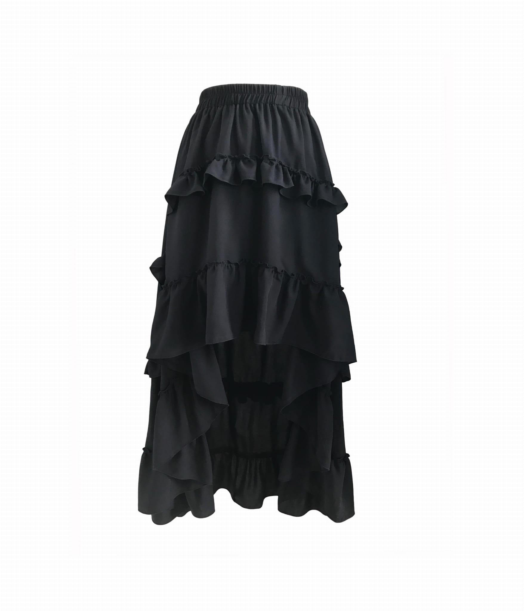 za pół Najnowsza wykwintny design spodnice z falbanami